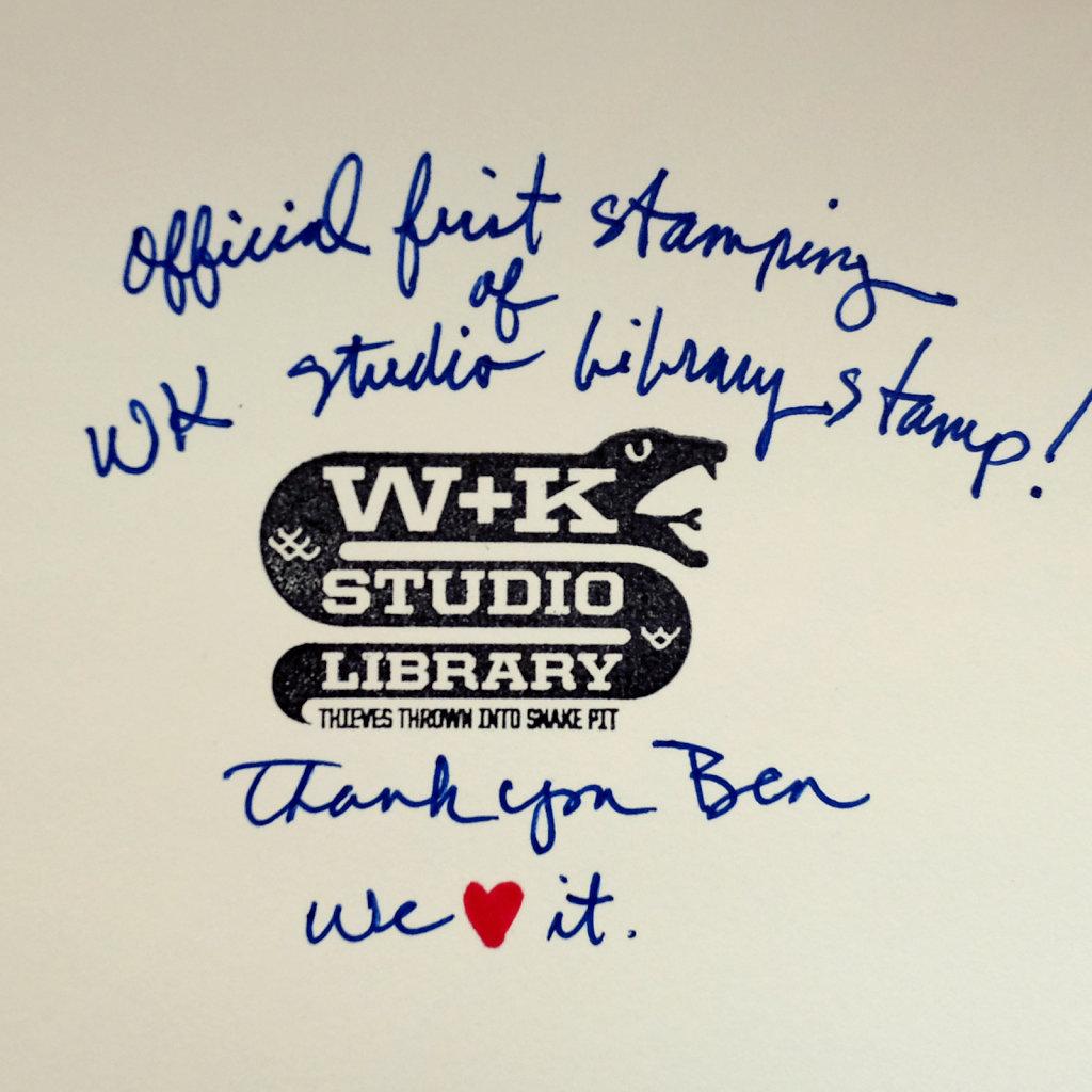 W+K Studio Library Stamp